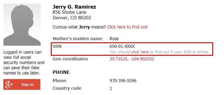 .edu mail almak yönteminde kullanılan ssn adresi yöntemi fakename